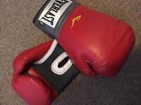 Red Everlast 16oz training/boxing gloves