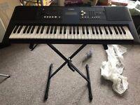 Yamaha digital keyboard PSR-E333 with stand