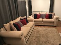 John Lewis Sofa - 2 x three seaters - 3 yrs old - Cost over £2000 - Great Condition - BARGAIN