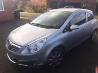 Vauxhall Corsa, 2009 . Brilliant condition, Star Silva 3 door Hatchback. 7 months until MOT