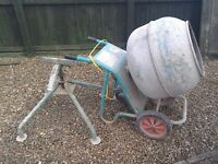 110volt cement mixer with stand in very good condition