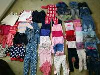 Baby girls clothing bundle 6-9 months, trousers, tights, tops, cardigans