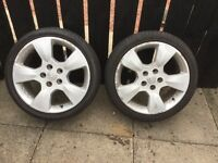 Part worn low profile tyres on alloy rims