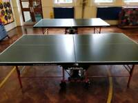 Used Butterfly playback rollaway table tennis tables