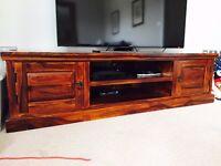 Solid dark wood TV stand/cabinet