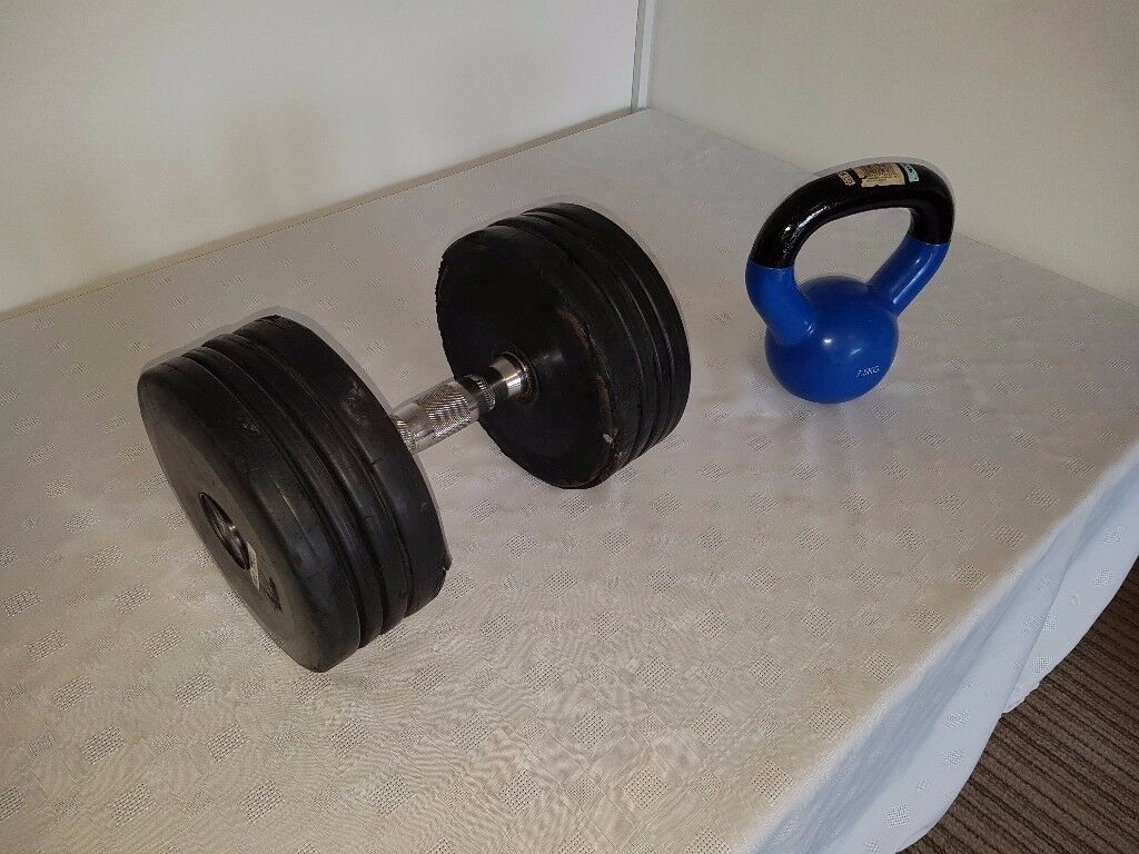 Gym/fitness exercise equipment-dumbbells, weights, boxing, kettlebell, TANITA body composition Scale