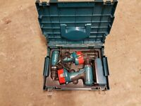 Makita 2x cordless drivers 14.4v with case