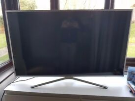 "Samsung smart TV, model 2017, selling cause leaving UK, 49"", not a single scratch"