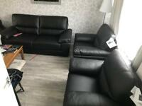 Leather Sofa and Arm Chairs