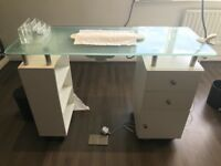 Manicure Table with nail extractor