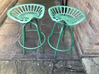 Tractor stools - very quirky seats for an enthusiast or Shabby chic home. Very unusual.