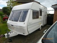 LUNAR ARIVA 4 BERTH TOURING CARAVAN with Awning and Motor Mover