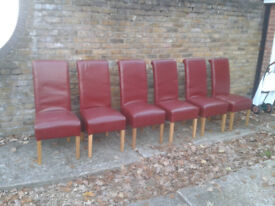 6 Chairs Leather Dining Dinner Room Chairs. ##FREE LOCAL DELIVERY##