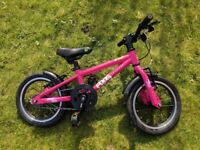 "Girls Pink Frog Bike 43. 14"" wheel. Excellent condition"