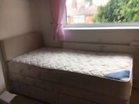 Single bed and head board