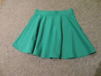 Women's Green skater skirt, Size 10