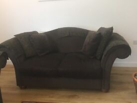 Quality scrolled armed 2 and 3 seater sofas - as new
