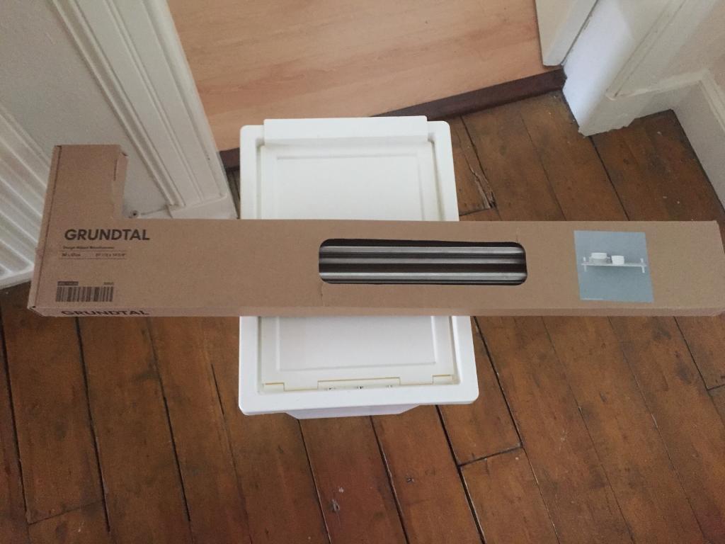 Ikea grundtal metal shelf