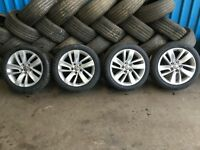 "VAUXHALL ASTRA MK6 SET OF 18"" ALLOY WHEELS WITH TYRES. 2010 11 12 13 14 15"