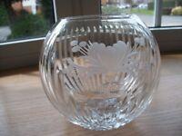 Royal Brierley Crystal, cut-glass vase