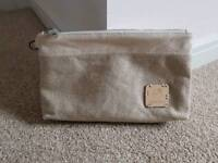 Used, great condition Liz Earle cosmetics makeup bag in cream/beige