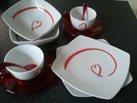 """""""Love Collection"""" by Guzzini - breakfast set for two with heart design"""
