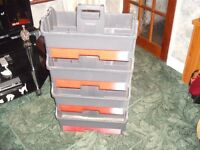 Stack of 4 Tool Boxs (good condition) All With a Drawer