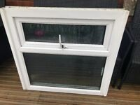 1 UPVC window with obscure glass