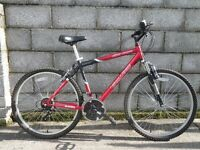 mens bike red silver canyon challenge 26''