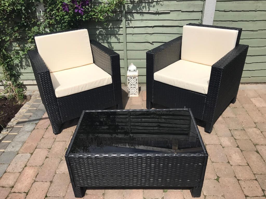 Garden Furniture Gumtree black rattan garden furniture set | in canvey island, essex | gumtree