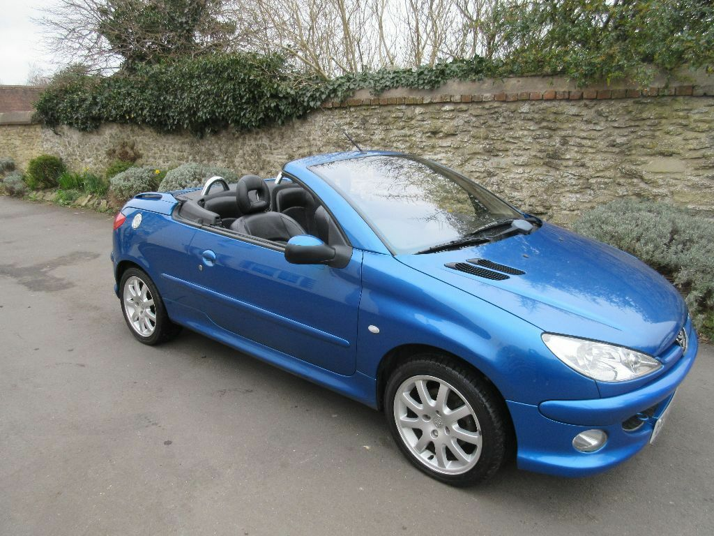 peugeot 206 cc convertible 2003 2l allure petrol manual blue low miles long mot in oxford. Black Bedroom Furniture Sets. Home Design Ideas