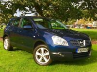 2008 NISSAN QASHQAI ACENTA BLUE 5 DOOR **DIESEL*BRAND NEW MOT*PARKING SENSORS**