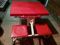 Portable Picnic Table with built in seats