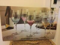Venezia hand painted wine glasses