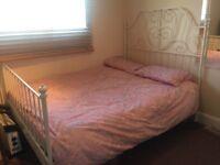 White IKEA double bed LEIRVIK