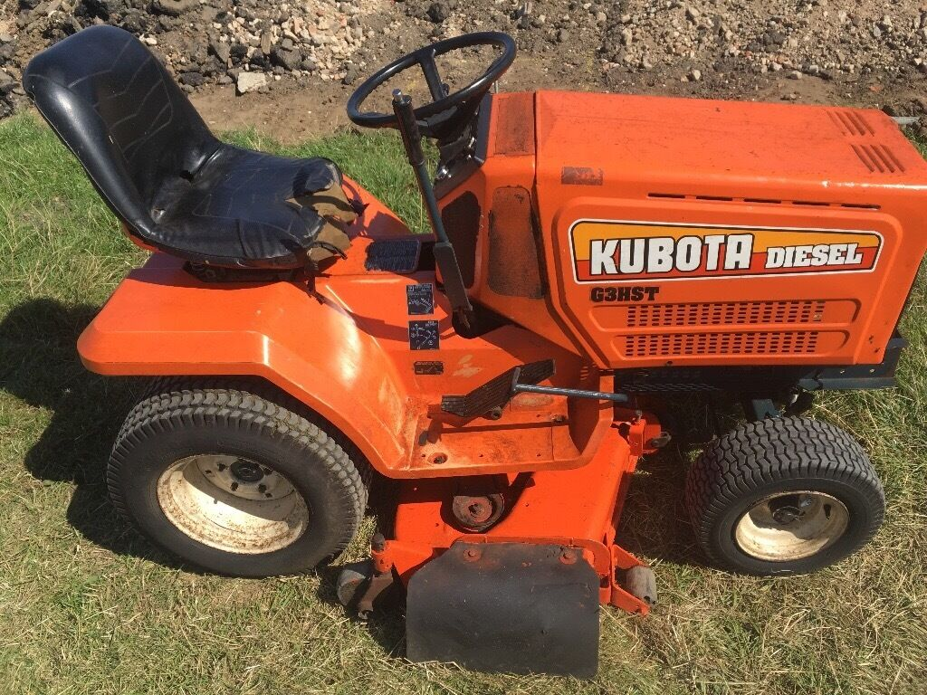 Kubota Tractor Batteries : Kubota g hst ride on lawn mower garden tractor barn find