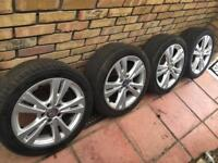 Mercedes 17 inch wheels with tyres
