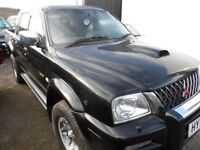 2004 MITSUBISHI L200 WARRIOR BLACK , 3 MONTHS WARRANTY , CLEAN ONLY 100K FREE NATIONWIDE DELIVERY