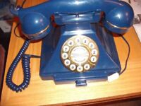 Blue Retro Style Phone
