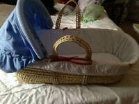 Boys moses basket from toys r us