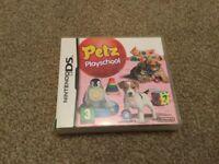 PETZ PLAYSCHOOL NINTENDO DS GAME