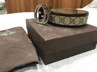 Genuine leather Gucci belt