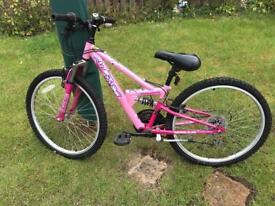 Girls bicycle pink