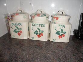 Royal Winton Storage Tea Coffee Sugar Jars Like New