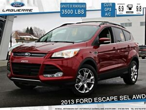 2013 Ford Escape SEL**AWD*CUIR*NAVI*TOWING PKG**