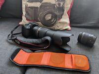 Canon EOS 1300D DSLR + 70-300mm Zoom Lens + 18-55mm lens + extras