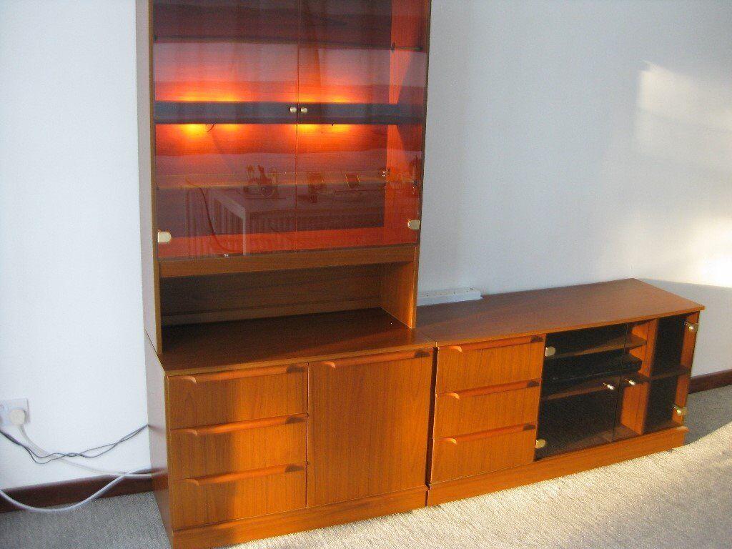 Lounge Storage Furniture Wall Unit Display Cabinet Tv Sideboard