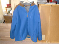 COTTON TRADERS BLUE FLEECE JACKET 2XL, WORN ONCE, FRONT ZIP and 3 FRONT ZIP POCKETS 1 INSIDE POCKET