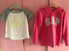 Girls Gap hoodie and Tshirt
