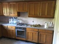 KITCHEN FOR SALE INCLUDING 13 BRASS DOOR HANDLES *COLLECTION ONLY*